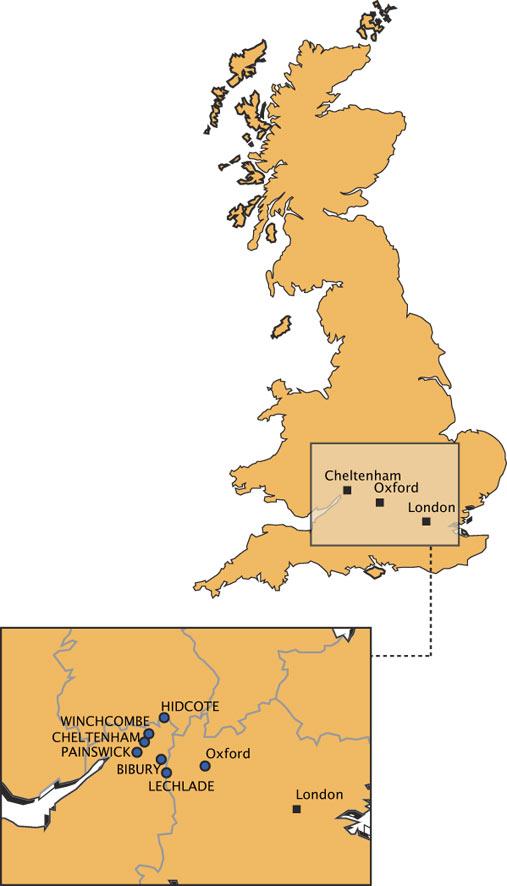 Carte Cotswolds Angleterre.Voyages Ictam En Groupes Cotswolds Voyages Culturels
