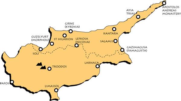 Chypre Carte Identite.Voyages Ictam En Groupes Chypre Du Nord Voyages Culturels