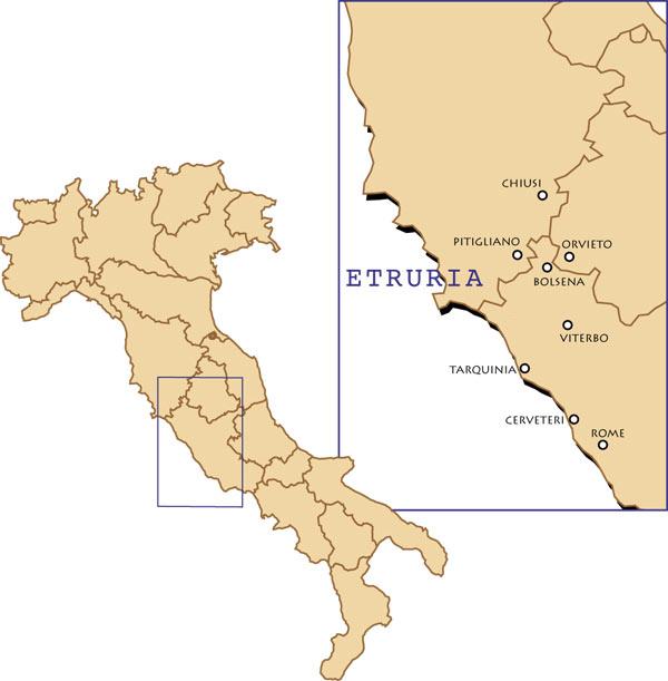 Voyages Ictam Italie en Etrurie : Voyages culturels circuits en