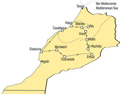 kaart atlas marokko